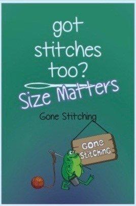 got stitches too?  Size Matters