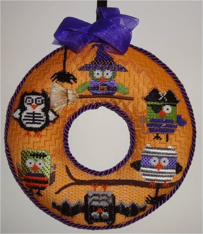 Halloween Owl Wreath w/ SG