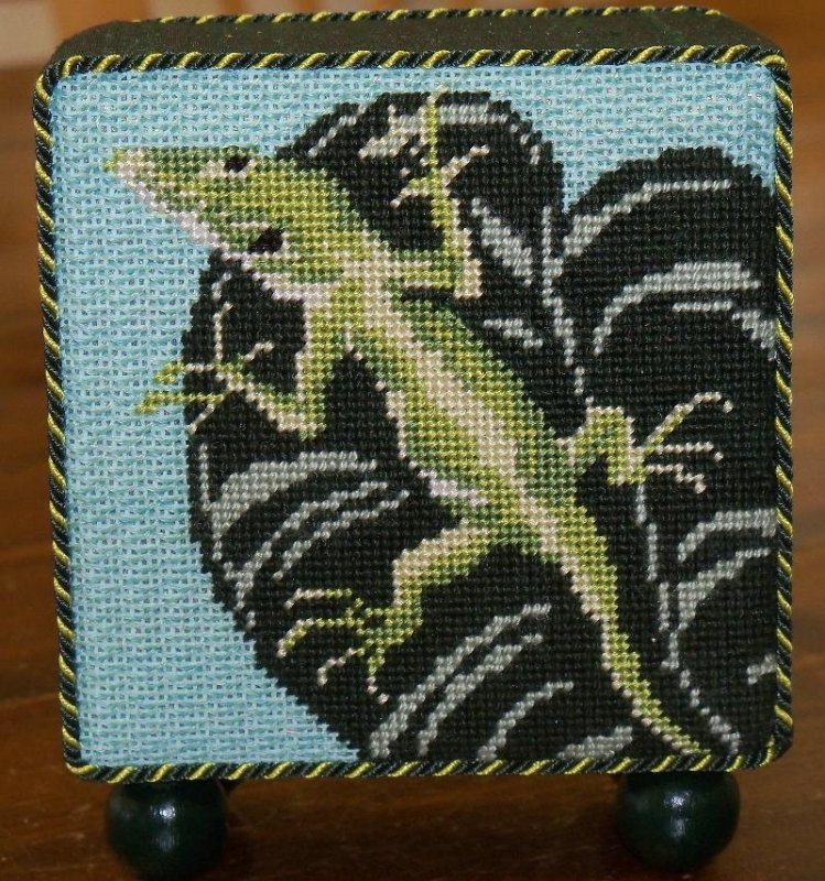 Gecko - stitched by Judy L.