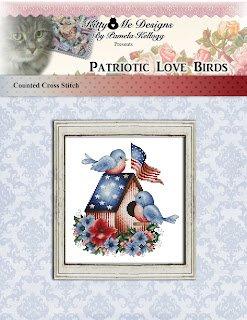 Patriotic Love Birds