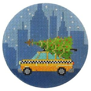 A New York Holiday - Taxi, 18Ct,  3.5 Round - copy