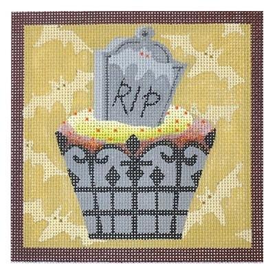 Gravestone Hallowe'en Cupcake - Mesh Count - 18