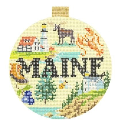 Travel Round - Maine18Ct,  3.5 Round