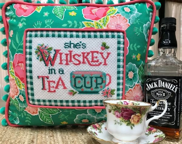 She's Whiskey in a Teacup w/ needle minder