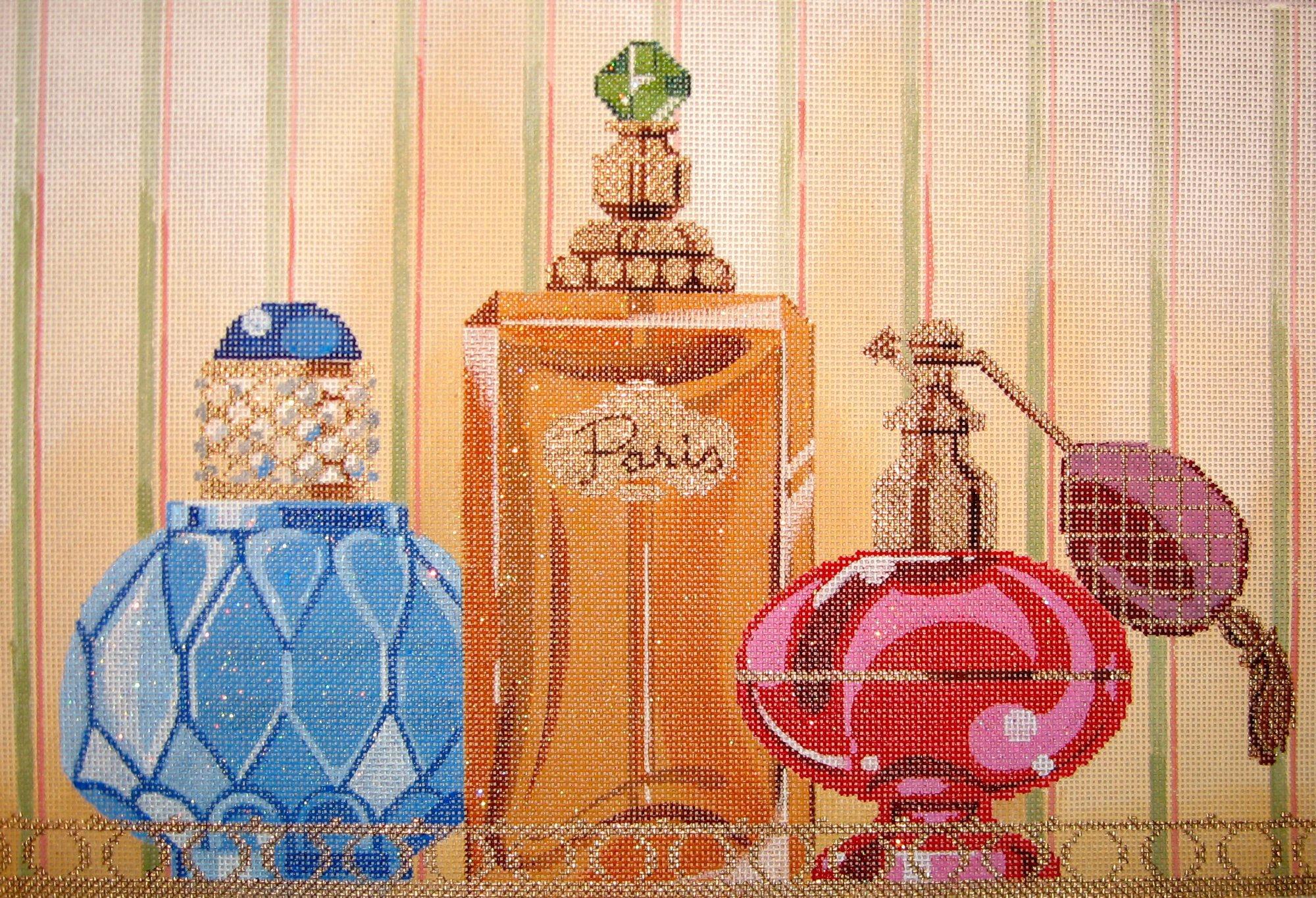 Perfume Bottles on Tray (18 mesh)