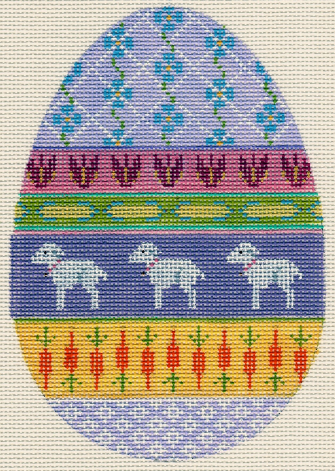 Easter Egg with Lambs