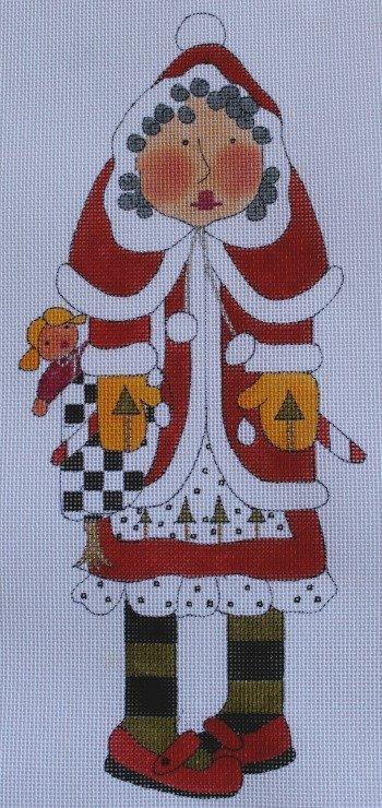 Mrs. Santa Claus 18ct w/ Stitch Guide