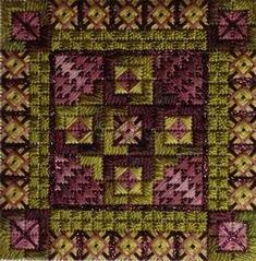Double Delights - Borleaux (design size 72x72 - 4x4 on 18ct)
