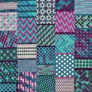 Banded By Bargello (design size 180x252 - 10x14 on 18ct)