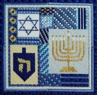 Holiday Delights - Hanukkah  (design size 108x108 - 6x6 on 18Ct)