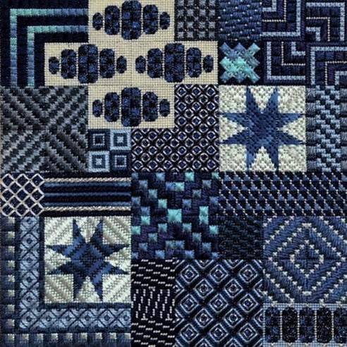 Sapphire   (design size 144x144 - 8x8 on 18Ct)