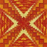 Color Delights - Fire (design size 72x72 - 4x4 on 18ct)