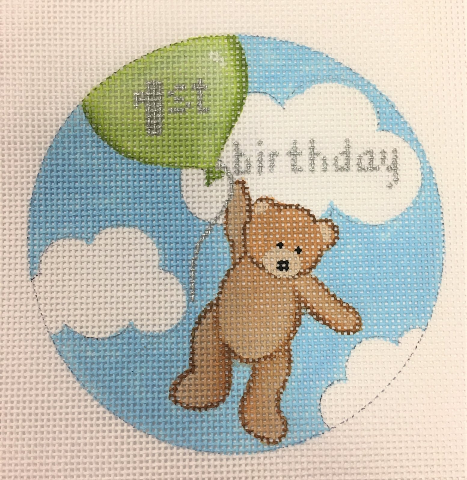 Flying High Teddy 1st Birthday - Green