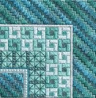 Color Delights - Seafoam (design size 72x72 - 4x4 on 18Ct)