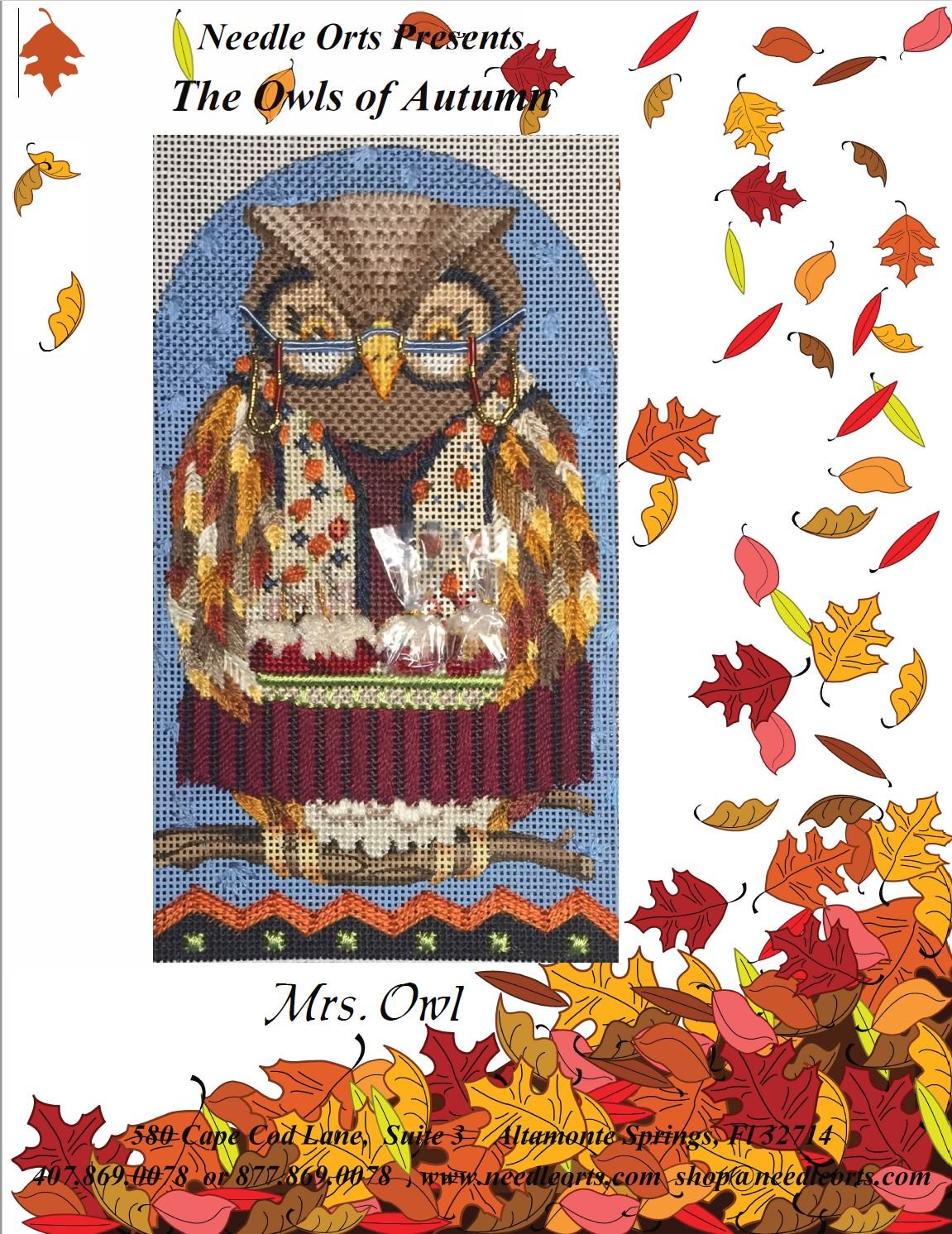 Stitch Guide - Owls of Autumn, Mrs. Owl
