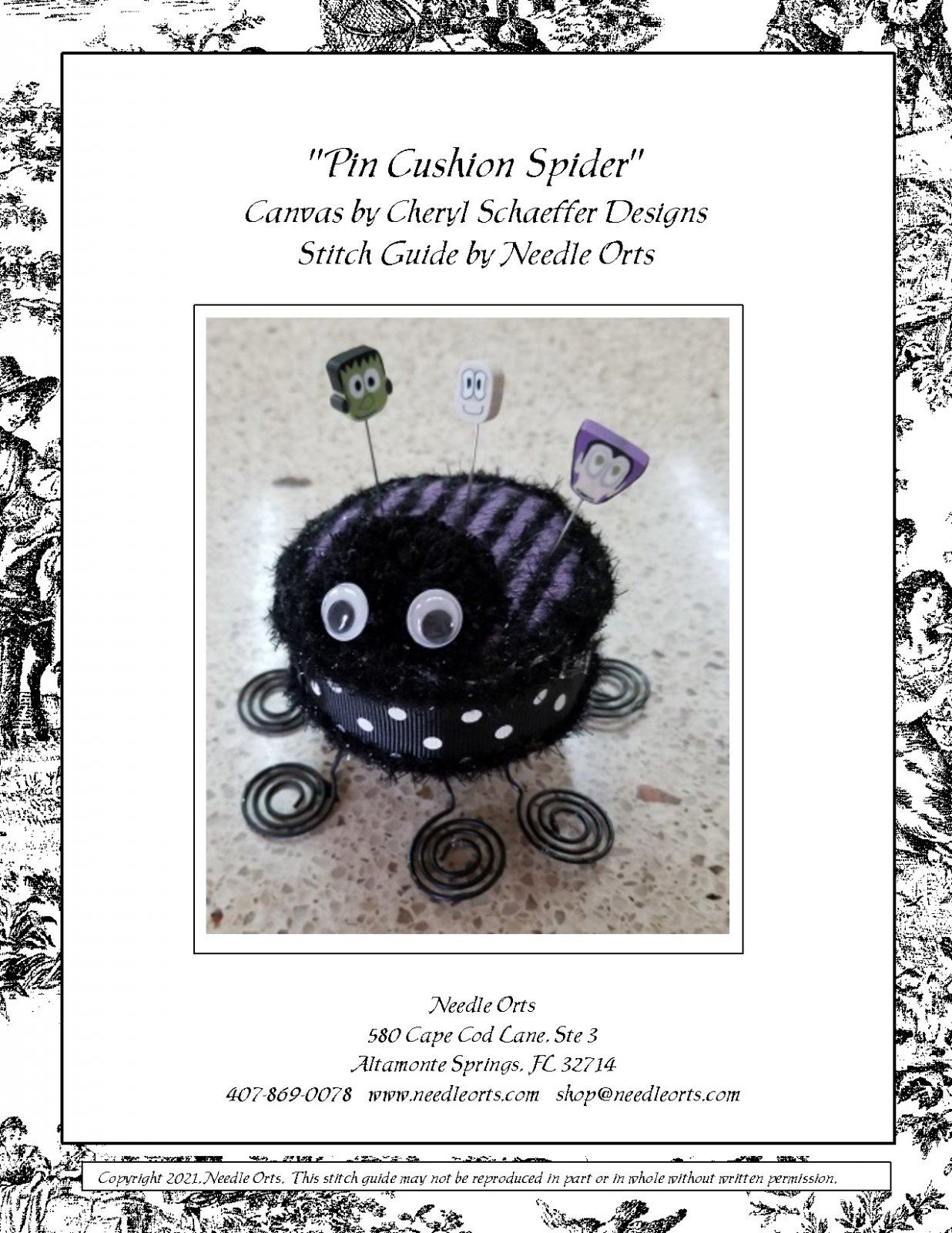 Stitch Guide - Pin Cushion Spider