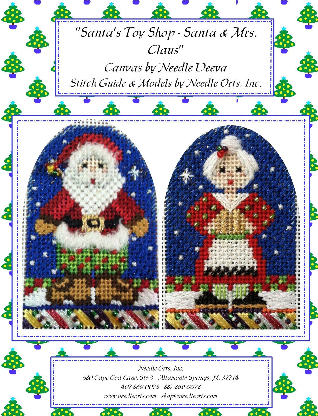 Stitch Guide - Santa's Toy Shop:  Mr & Mrs. Claus