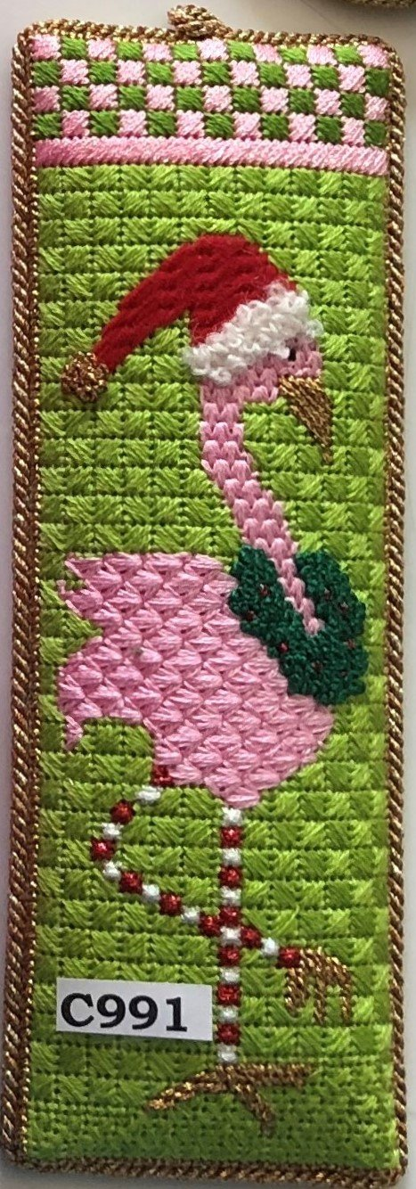 Fancy Flamingo - Chartreuse Santa