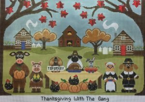 Thanksgiving With The Gang w/Embellishments