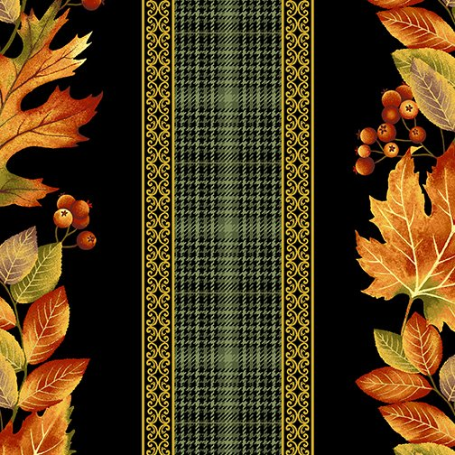 Autumn Elegance Autumn Stripe Black/Multi