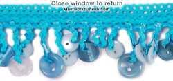 2 Button Fringe Turquoise