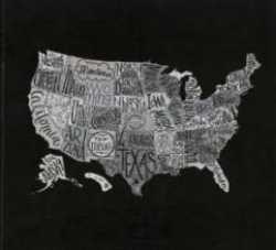 Metropolis Black Map 21 x 23