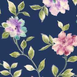 Ariel Floral Vine Navy