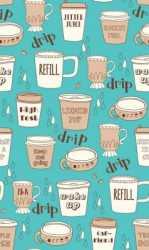 Caf-fiend Aqua Cups