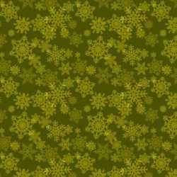 Glad Tidings Green Snowflakes