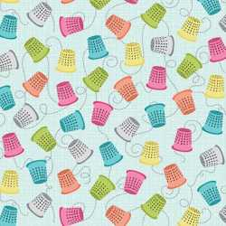 My Happy Place Thimbles Light Turquoise