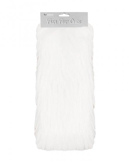 Extra Long Pile 9 x 12 Fun Fur Cuts- White