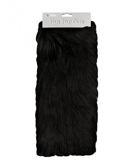 Long Pile 9 x 12 Fun Fur Cuts- Black