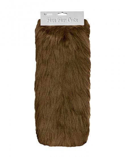 Long Pile 9 x 12 Fun Fur Cuts- Brown