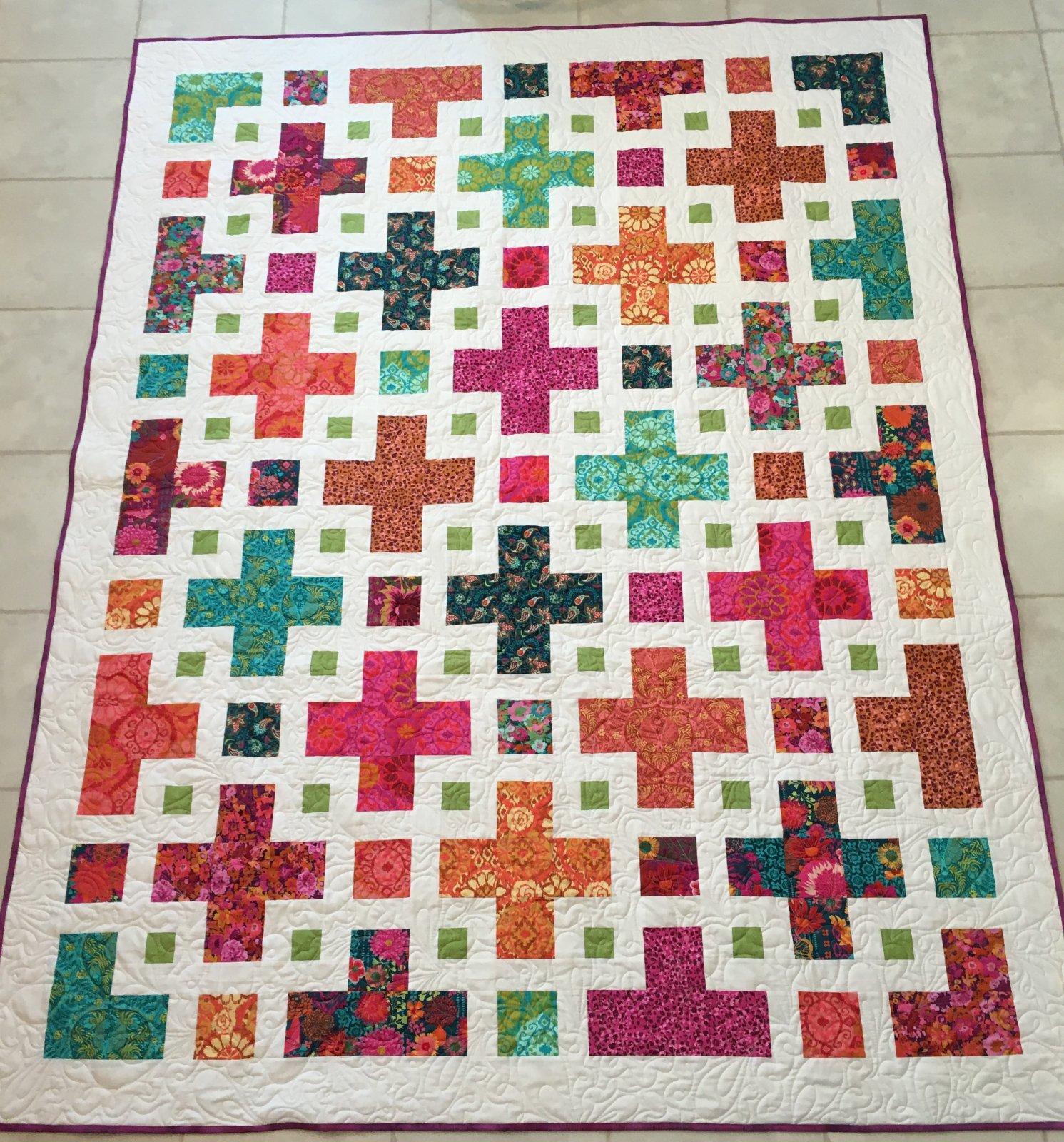 The Violet Quilt 72x92