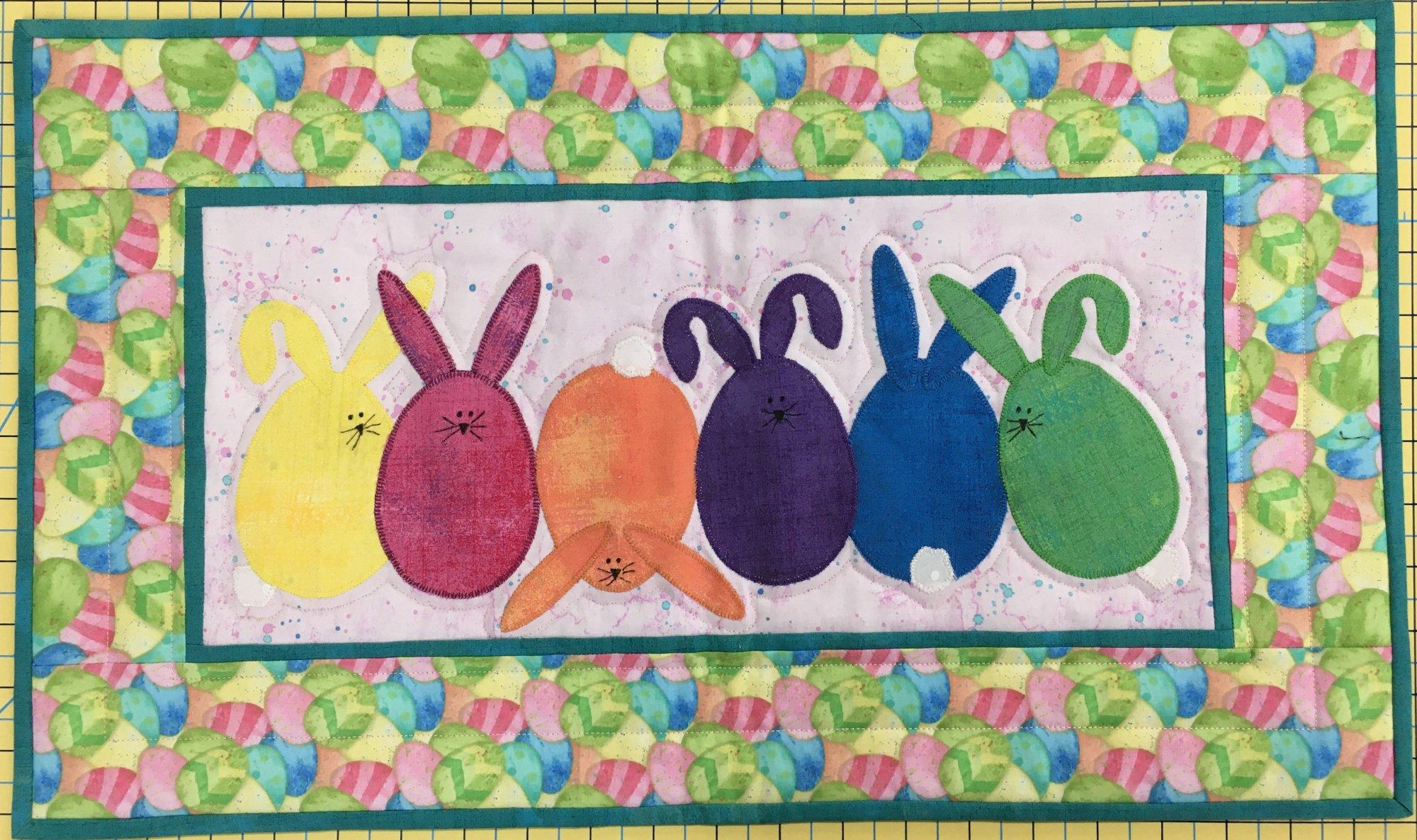 Flip Flop Bunnies 22 x 13 Pattern Included