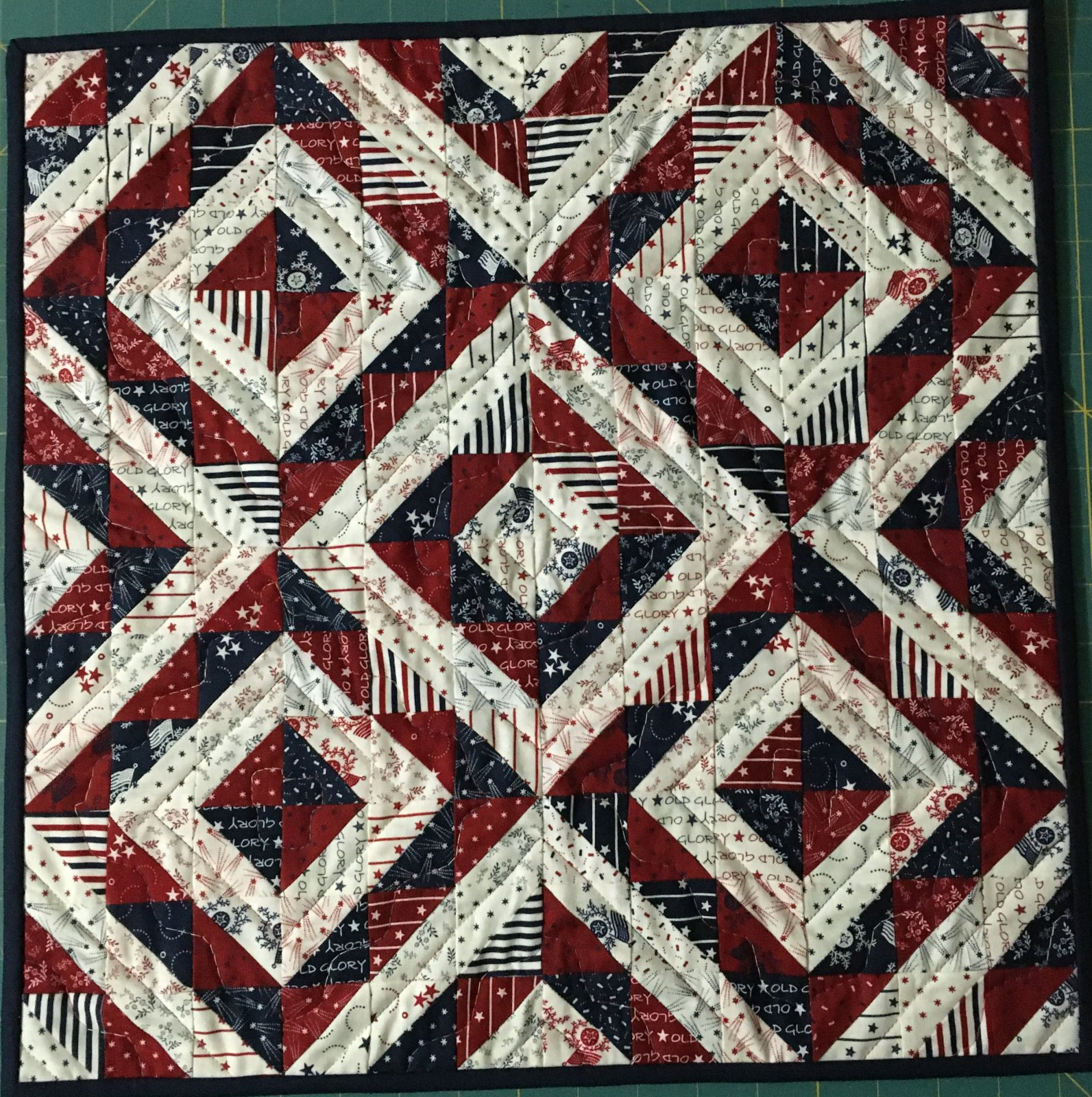 American Beauty 18-1/2 square or 9-1/2 x 36-1/2