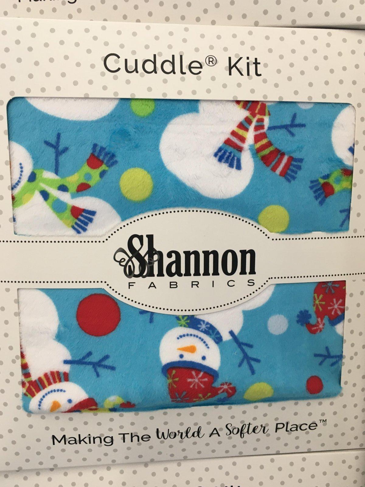 Cuddle Teal Snowmen 1-1/2 yd