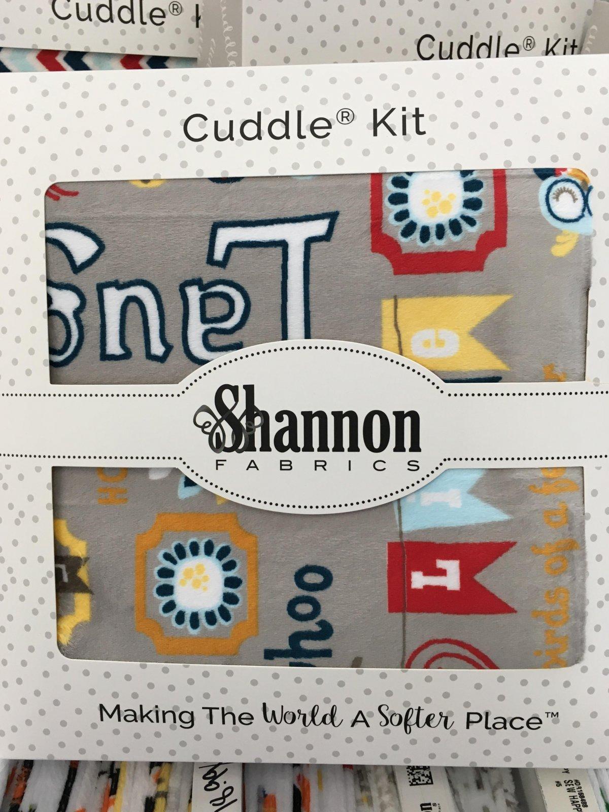 Cuddle Grey AdornIt Words 2 yd.