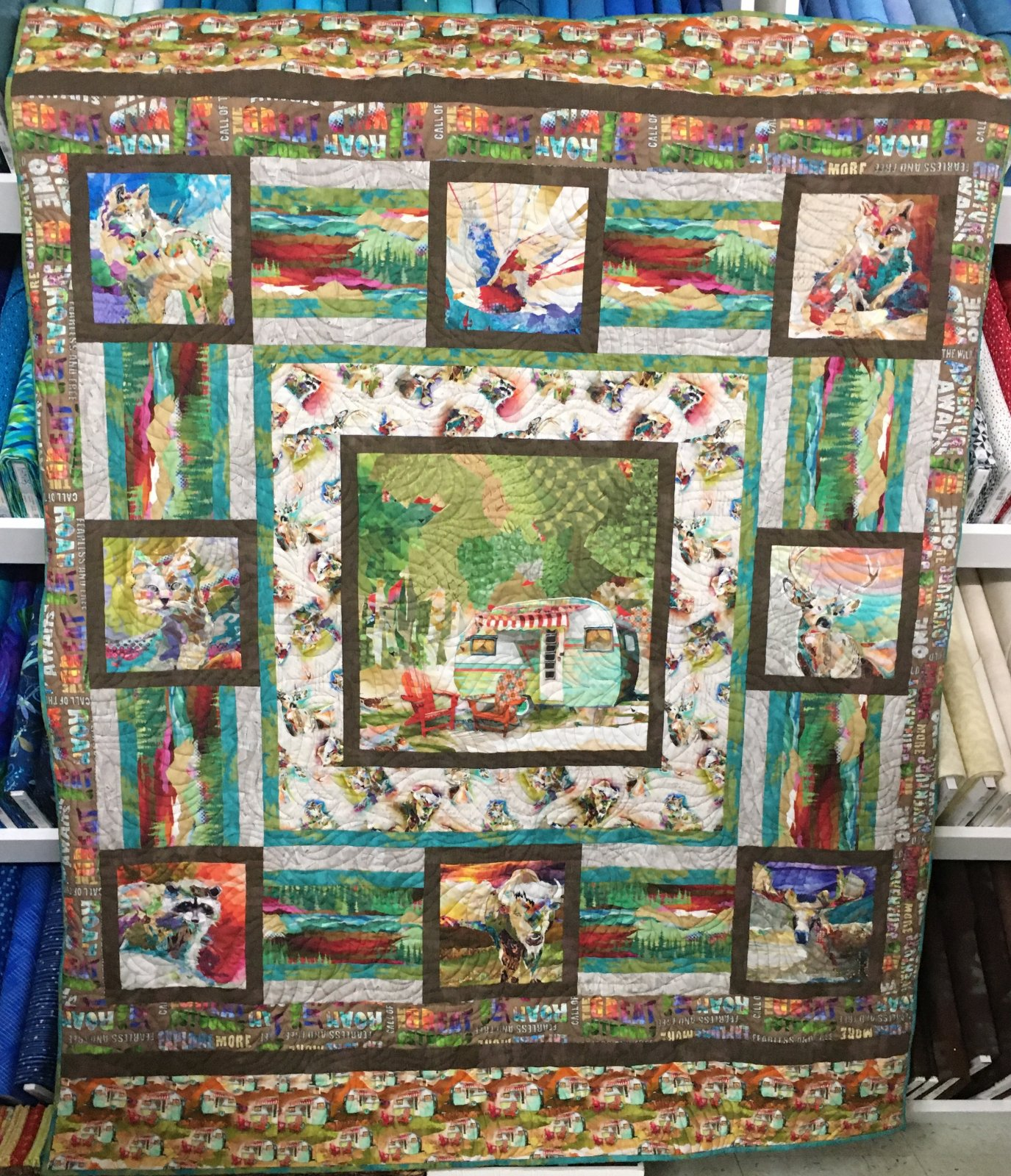 The Great Outdoors Quilt 58x68