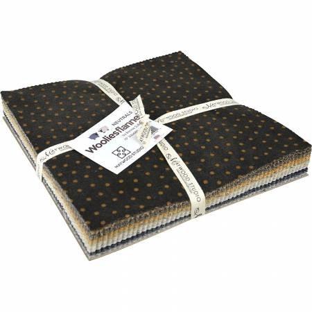 Woolies Flannel Neutral 10 Squares by Bonnnie Sullivan