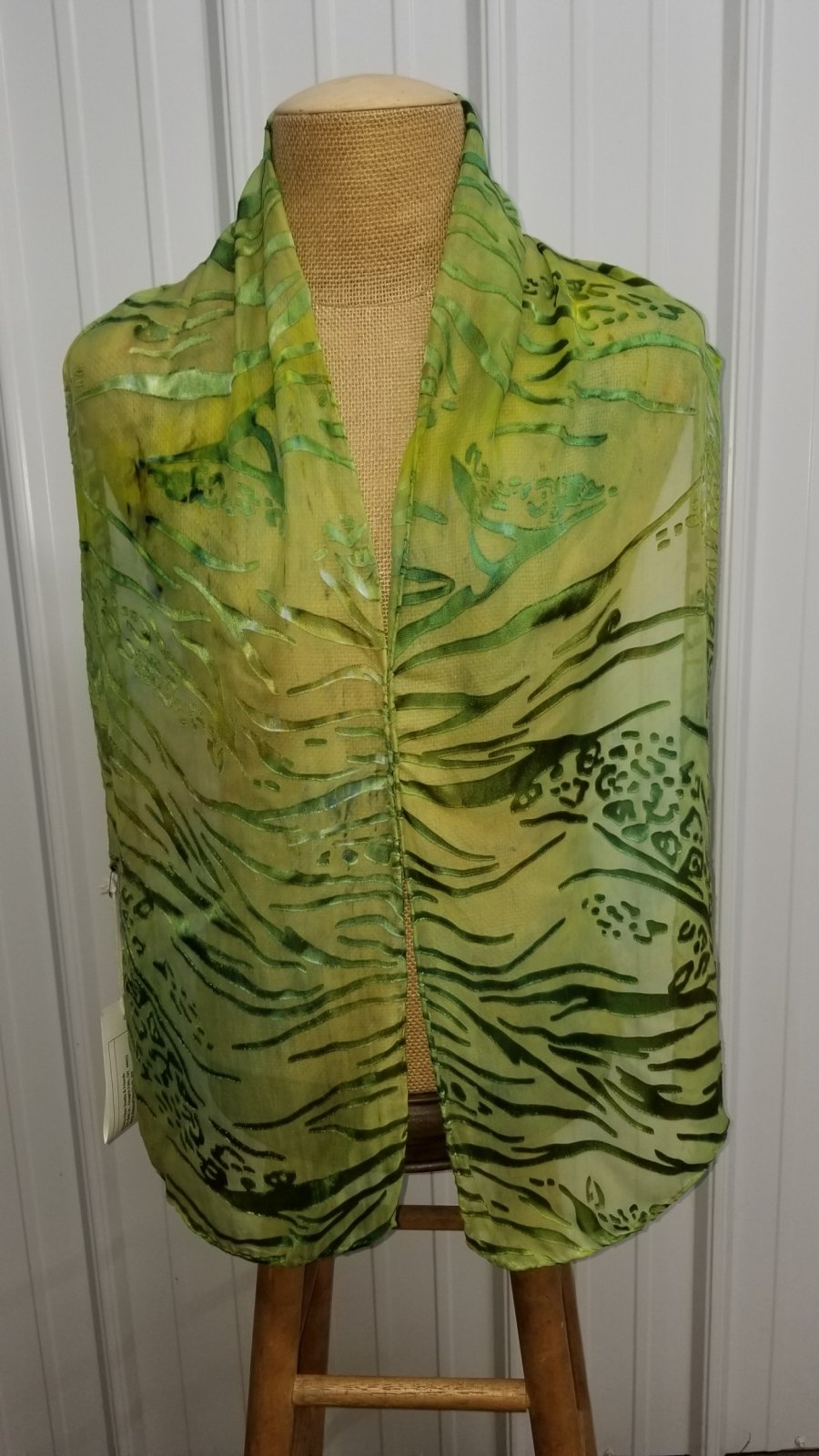 Snow Dyed Poncho Green