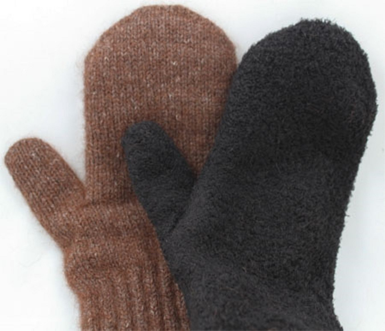 Boucle' Lined Alpaca Mittens--LARGE