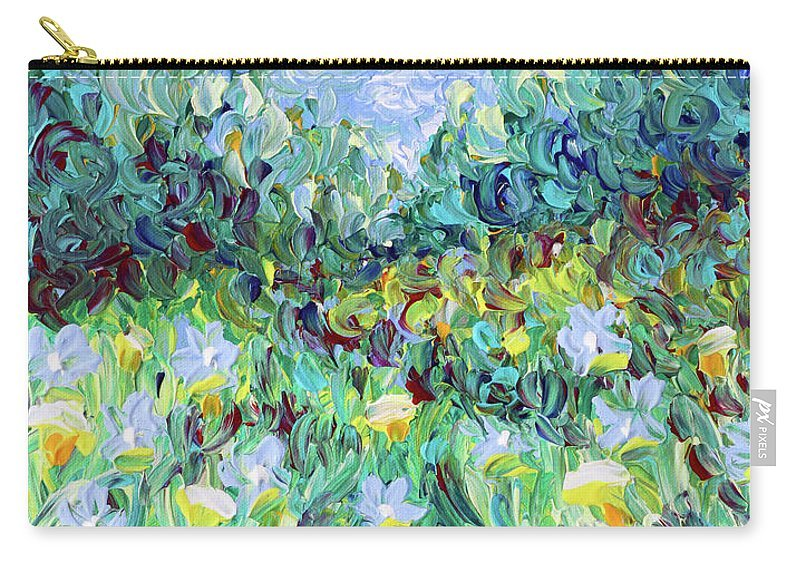 Finger Painted Zipper Pouch--SMALL