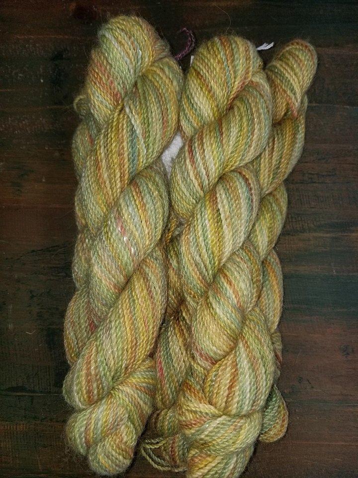 Sport Weight Green Yellow Alpaca Tencel Sparkle