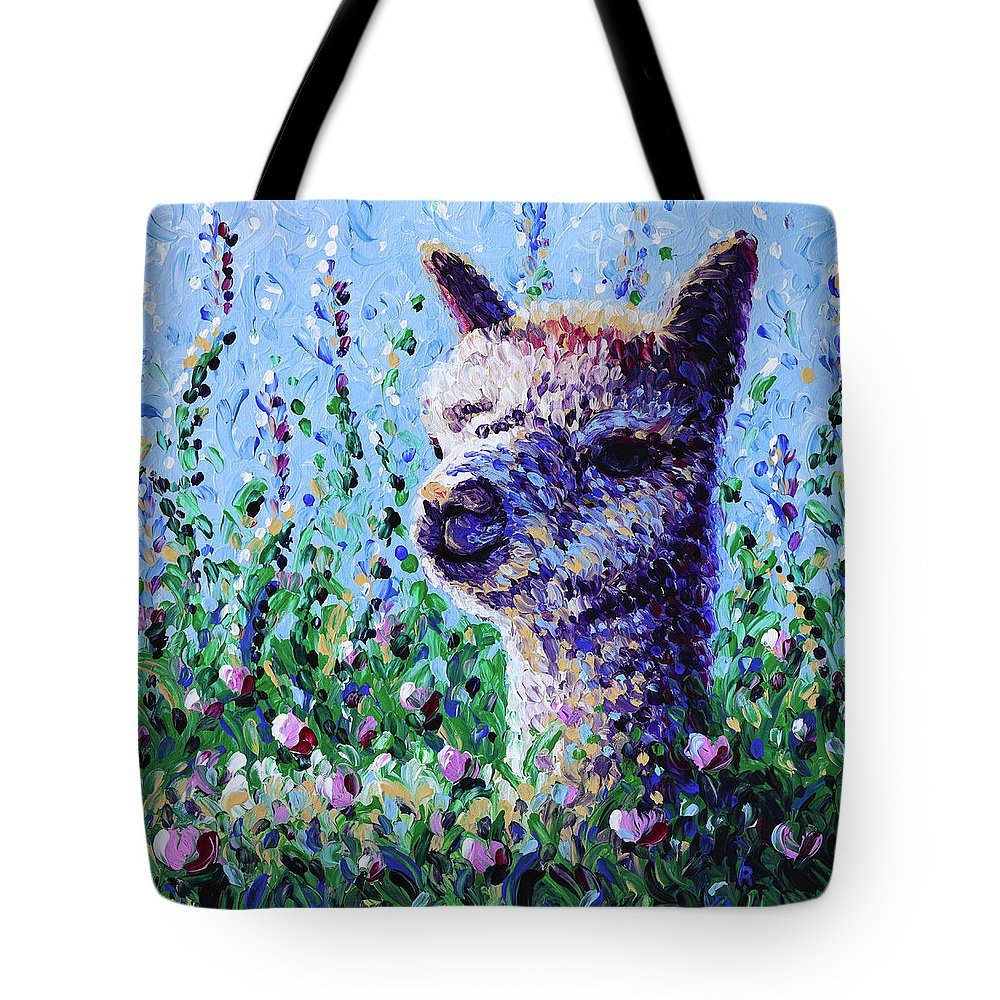 Finger Painted Tote--LARGE 18x18