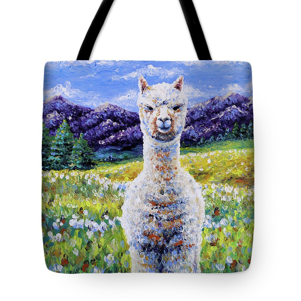 Finger Painted Tote--SMALL 13x13