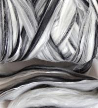 Tencil Merino Blend 18/82 Black/White Grey