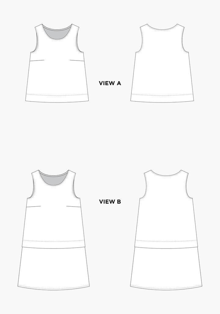 Grainline Studio Willow Tank and Dress sewing pattern