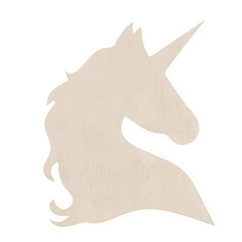 Unfinished Wood Unicorn Profile