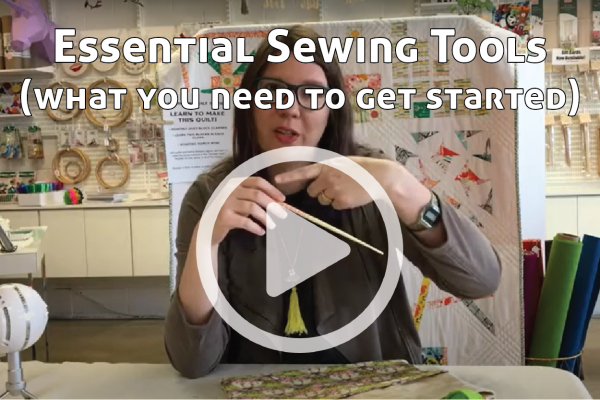 Essential Sewing Tools link to You Tube Video